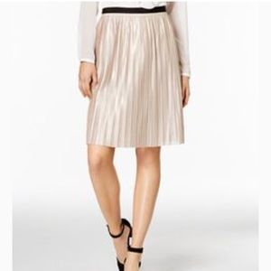 Tommy Hilfiger Gold Shimmer Pleated Midi Skirt